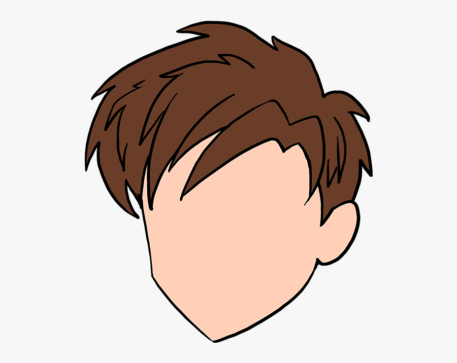 Drawing Hairlines 3 4 Hair - Brown Spiky Hair Cartoon, Transparent Clipart