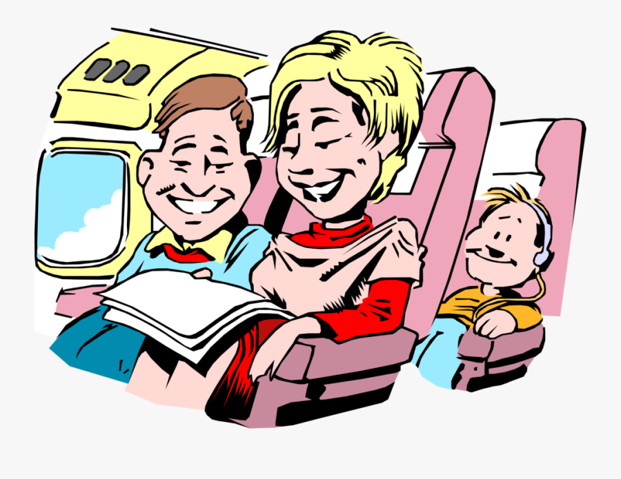 Vector Illustration Of Family Vacation Travel Holiday - Reise Clipart Png, Transparent Clipart