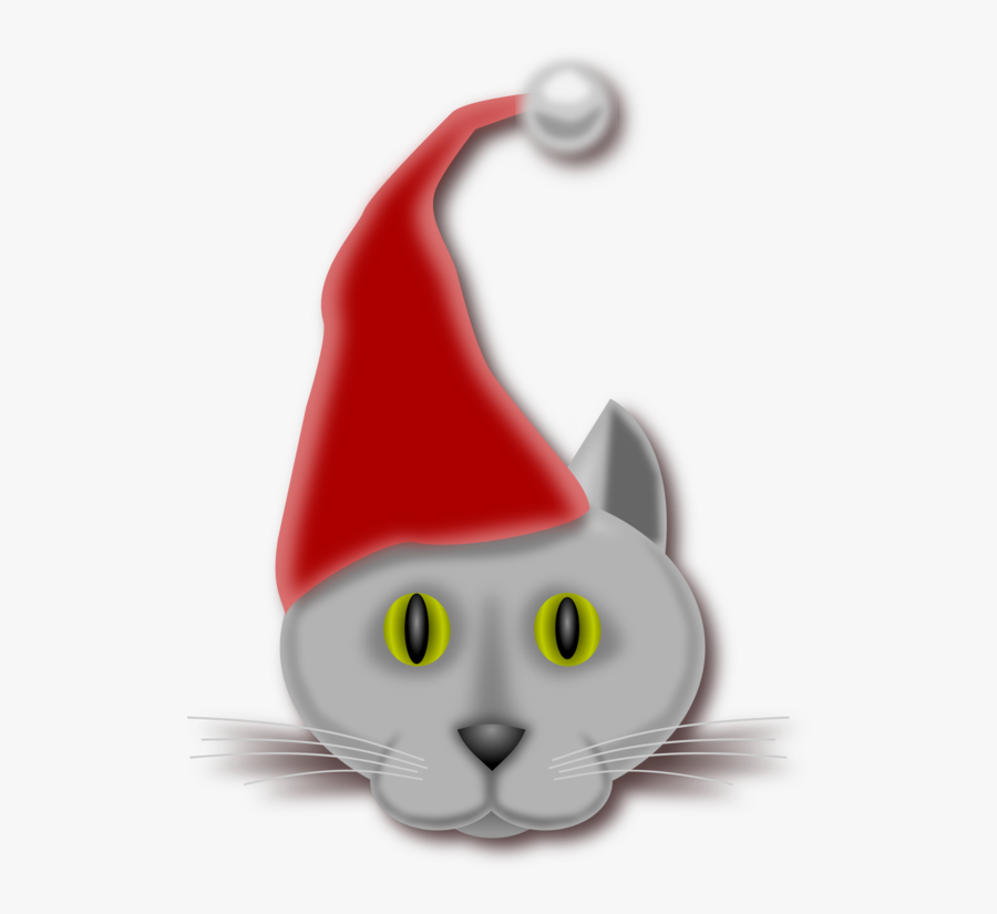 Small To Medium Sized Cats,kitten,vertebrate - Christmas Cst Cards Vector, Transparent Clipart