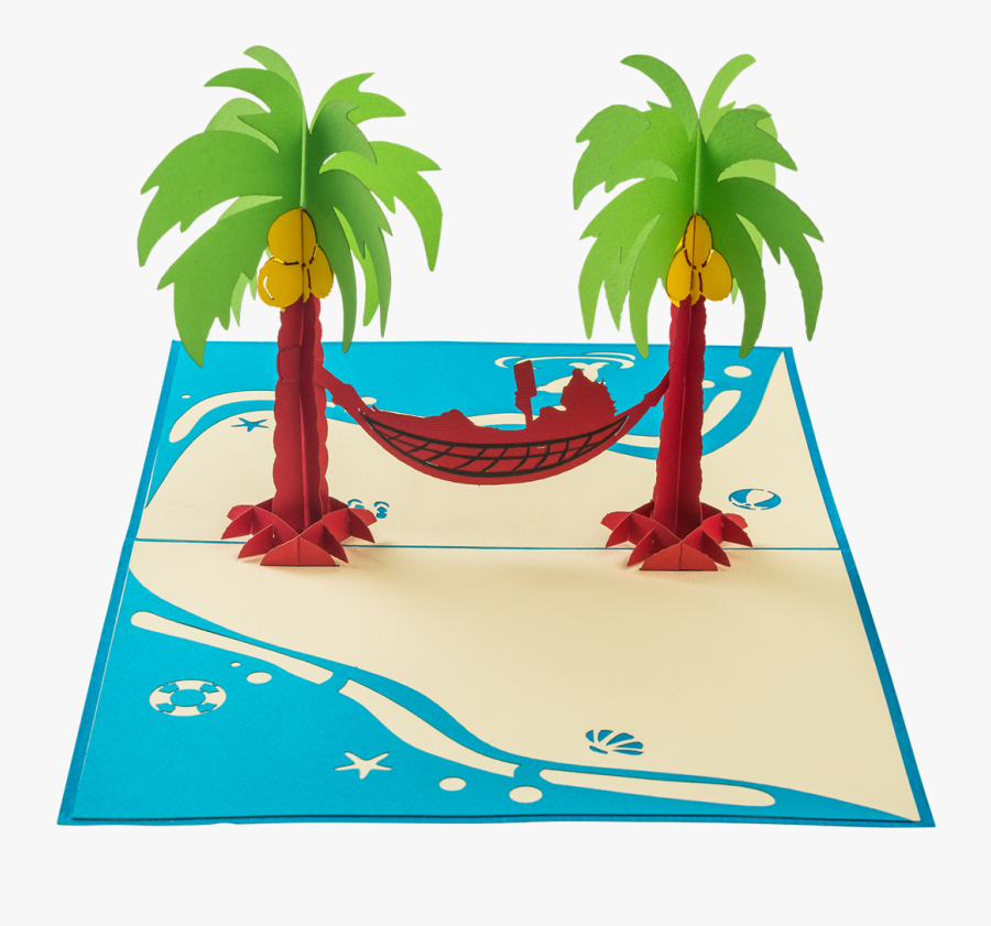 Chillax Girl Chilling In A Rope Hammock Strung Between, Transparent Clipart