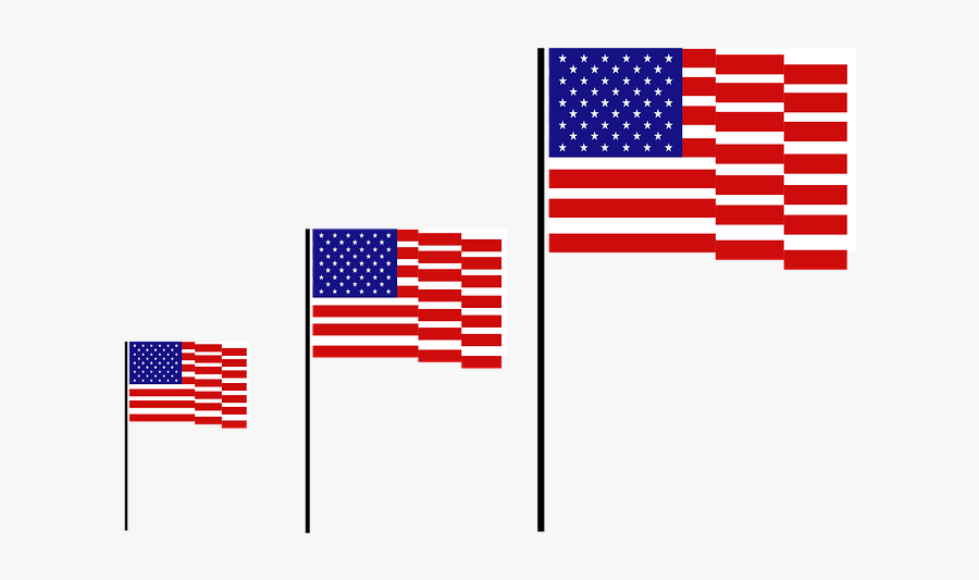 Flag, Usa, American, America, United, Clip, Background - Flag Of The United States, Transparent Clipart