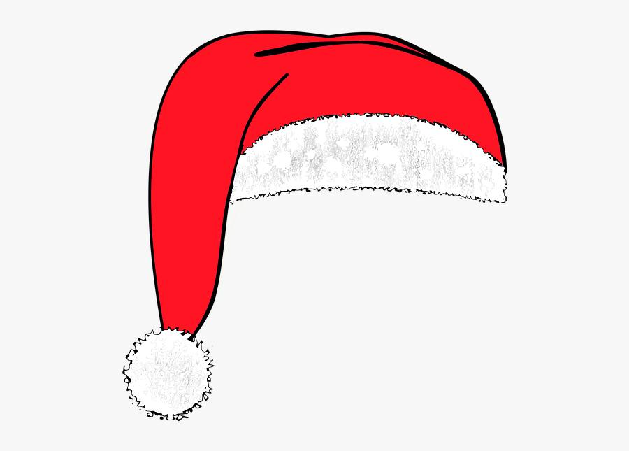 Santa Hat, Santa Claus, Cap, Red, Nicholas - Noel Baba Şapkası Png, Transparent Clipart