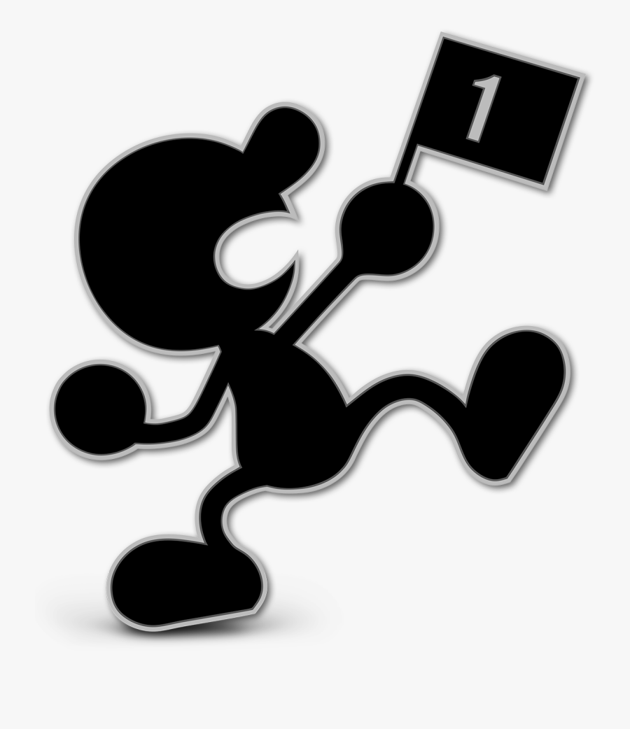 Game And Watch Ultimate - Super Smash Bros Ultimate Mr Game And Watch, Transparent Clipart