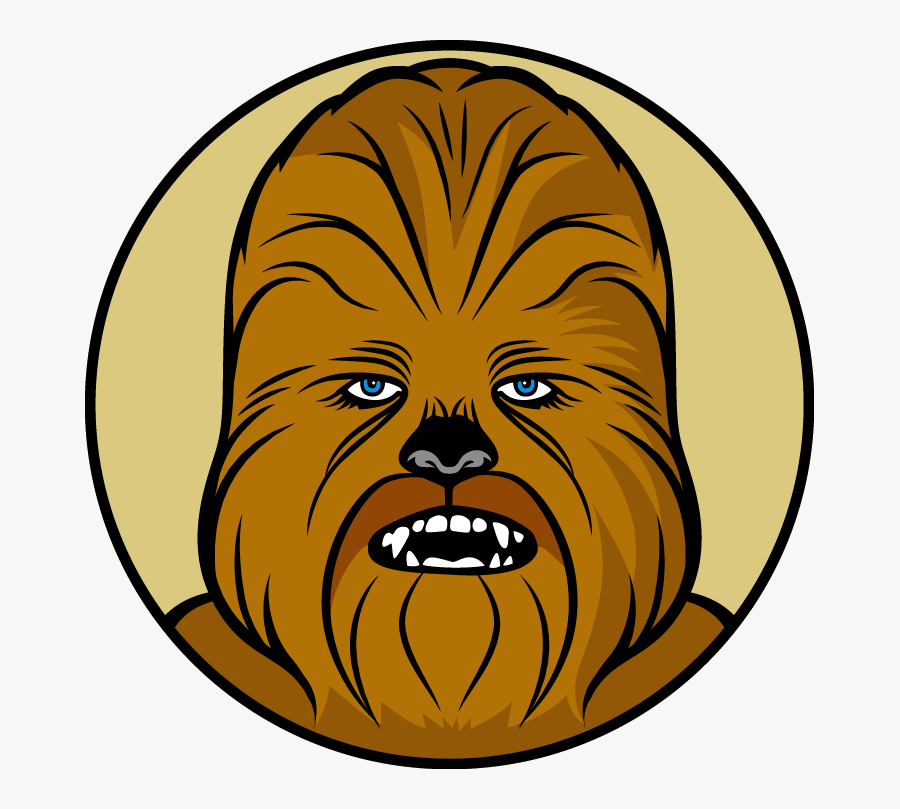 Chewbacca Star Wars Vector, Transparent Clipart