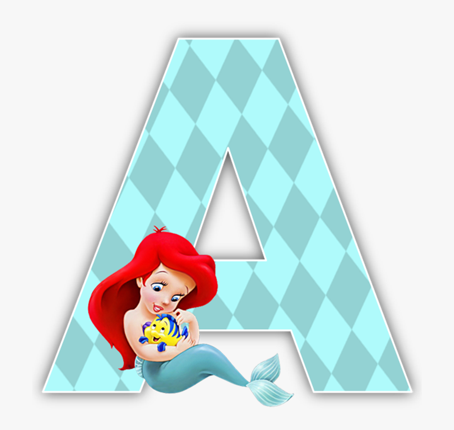 Numbers Clipart Mermaid - Little Disney Princess Characters, Transparent Clipart