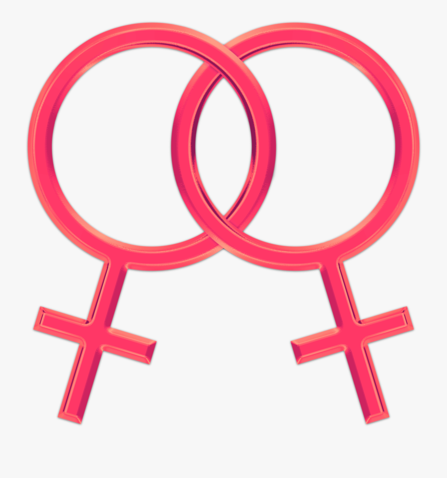 Gay Lesbian Symbol Free Picture - Lesbian Sign, Transparent Clipart