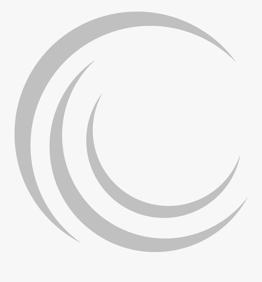 Swirl Clipart Grey - Circle, Transparent Clipart