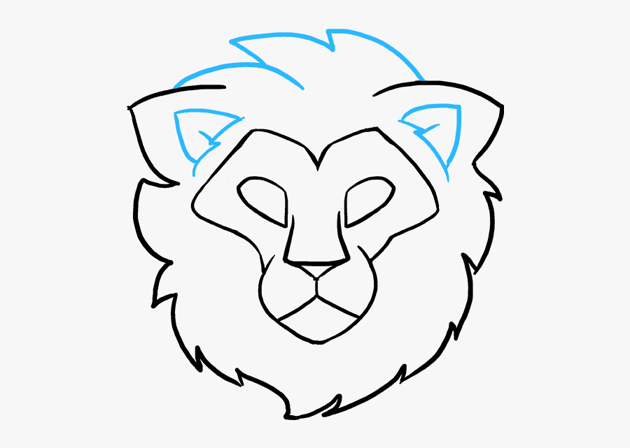 How To Draw Lion Head - Lion Head Easy Drawing, Transparent Clipart