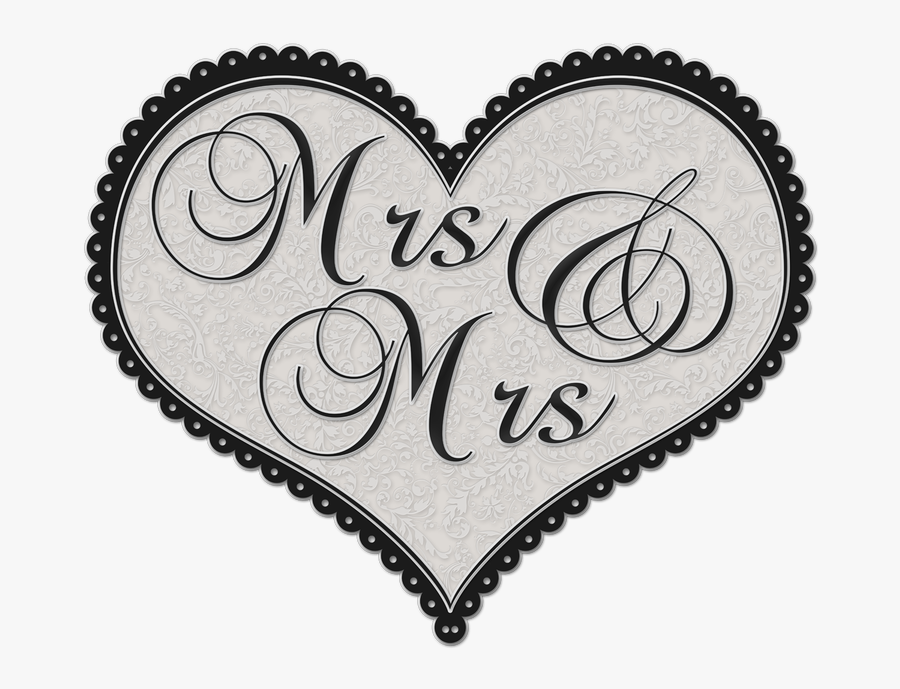 And Mrs - Love Heart Frame Png, Transparent Clipart
