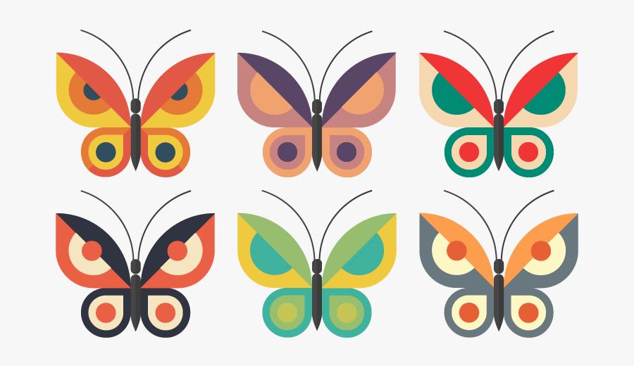 Butterflies Butterfly Flat Vector Illustrator Illustration - Flat Butterfly Vector, Transparent Clipart