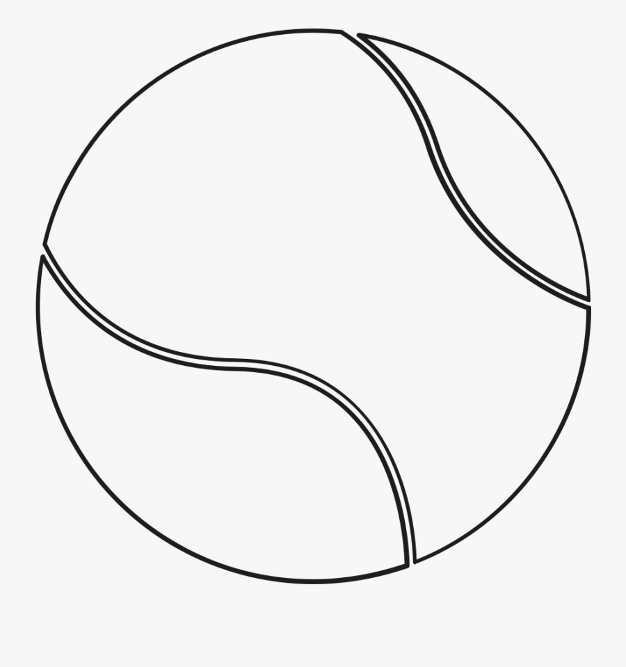 Tennis Ball Clipart Drawing - Tennis Ball Clipart Black And White, Transparent Clipart