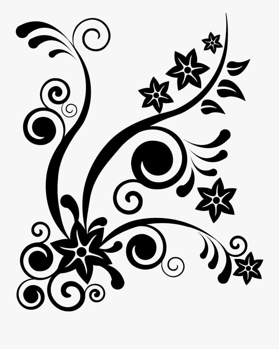 Transparent Orange Clipart Black And White - Batik Design Color Black And White, Transparent Clipart