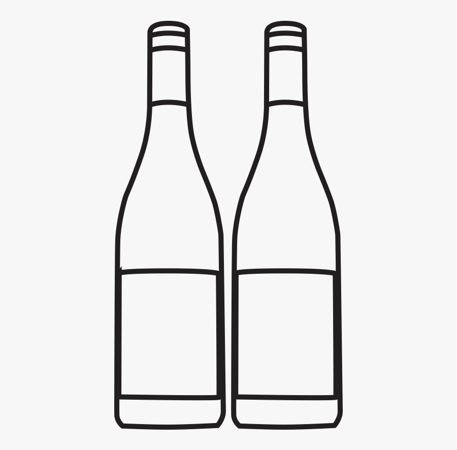 Black And White Bottles, Transparent Clipart