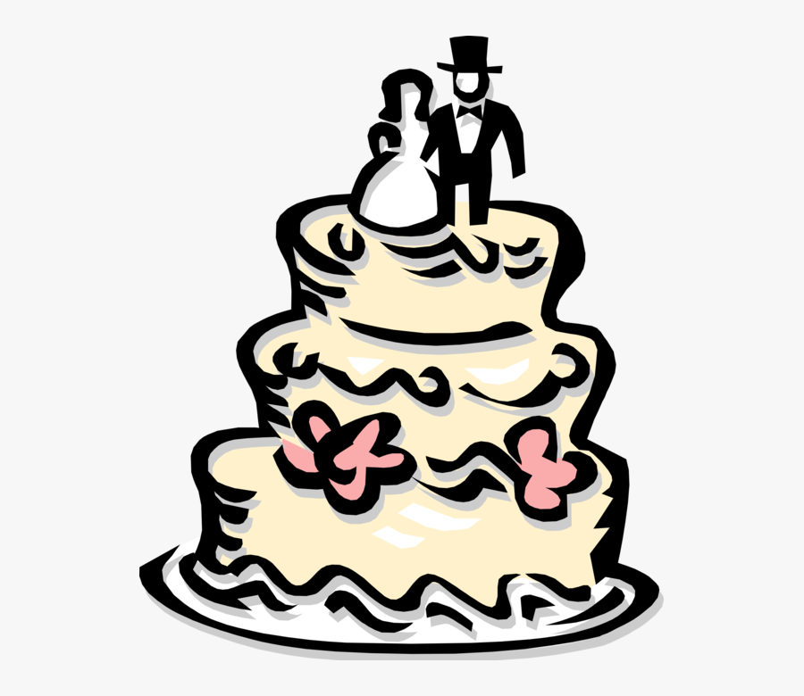 Vector Illustration Of Wedding Cake Traditional Cake Wedding Cake Illustration Png Free Transparent Clipart Clipartkey