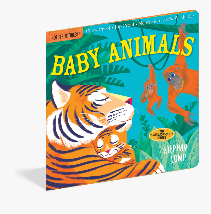 Indestructibles Mama And Baby Book Is About Mothers - Indestructibles Baby Animals, Transparent Clipart