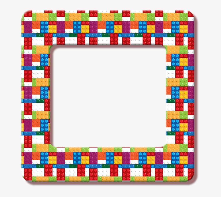 Lego Frame, Lego, Building Blocks, Toy, Children, Frame - Picture Frame, Transparent Clipart