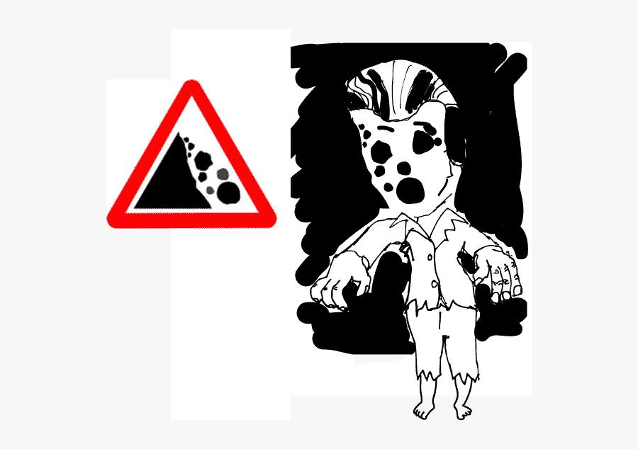 Beware Of Falling Zombies - Falling Rocks Road Sign , Free ...