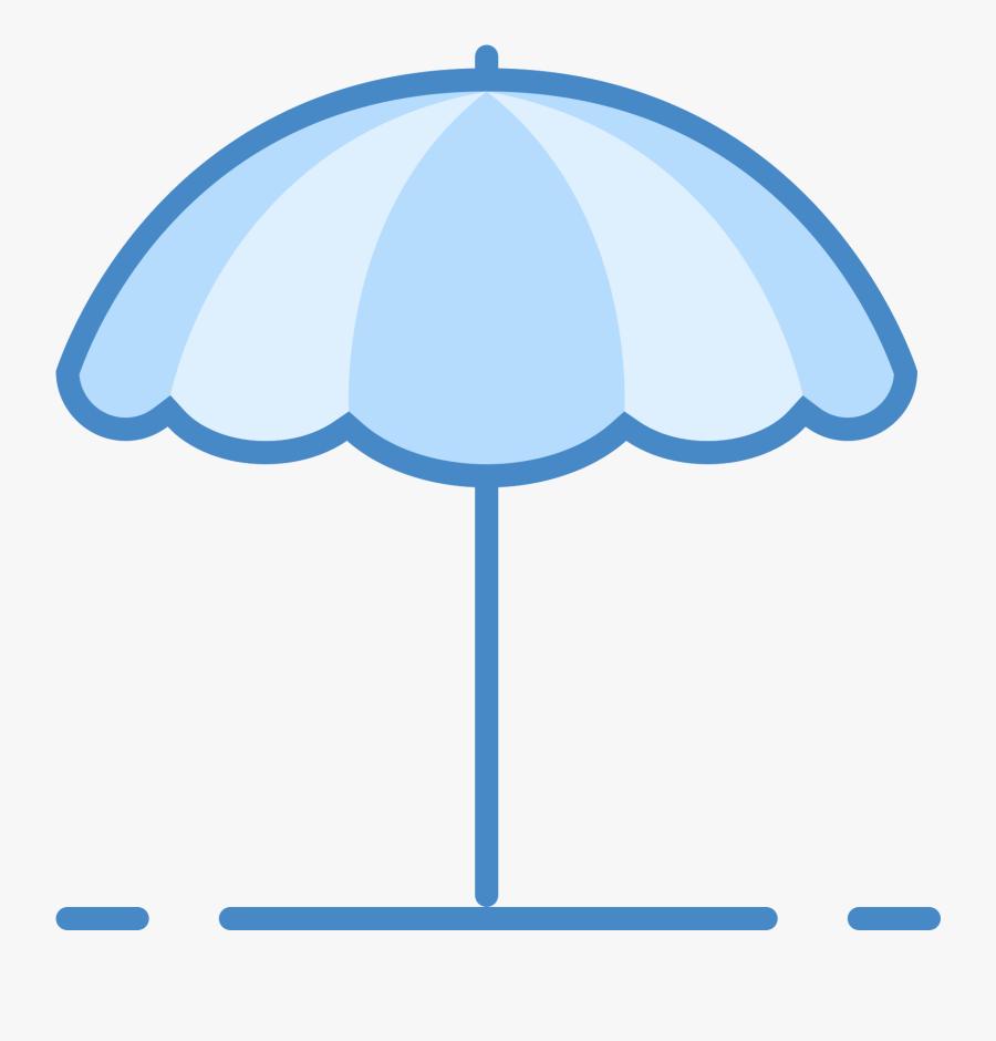Transparent Beach Icon Png - Beach Umbrella Blue Icon, Transparent Clipart