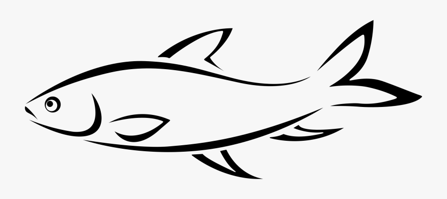 Clip Art Vector Royalty Free Library - Fish Line, Transparent Clipart