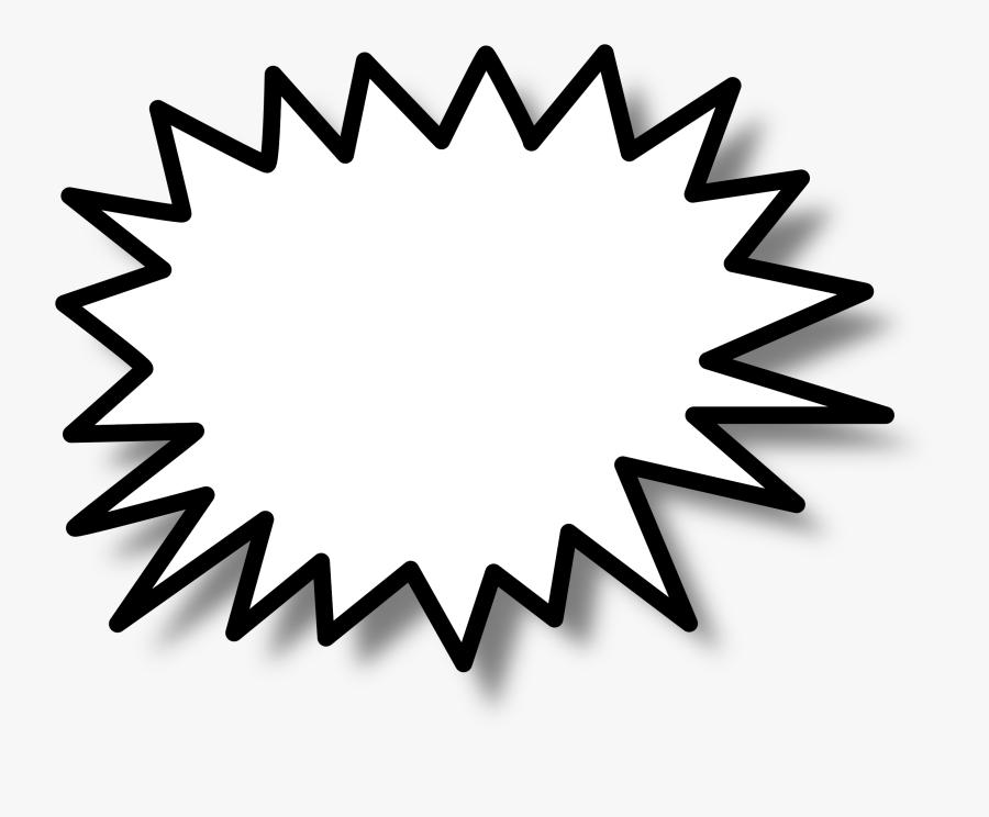 Speech Bubble Text Think Talk Png Image - Star Burst Clip Art, Transparent Clipart