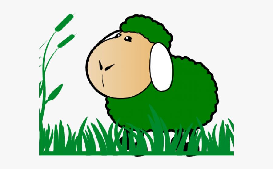 Grass Clipart Sheep - Red Sheep Clipart, Transparent Clipart