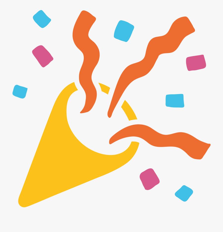 Celebrate Clipart Emoji - Transparent Background Party Popper Clipart, Transparent Clipart