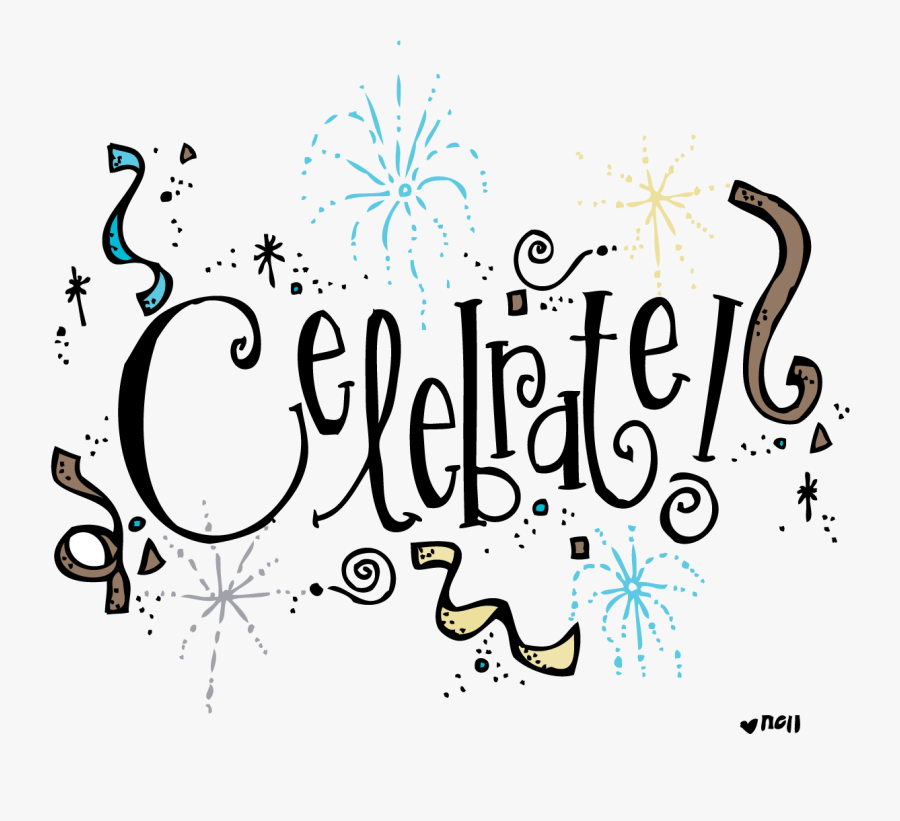 Symbols Clipart Celebrate Gallery Free Images - Confetti Clipart Black And White, Transparent Clipart