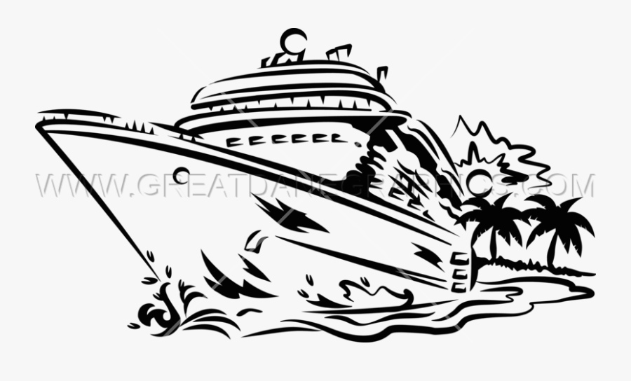 Clip Art Library Collection Of Black And White High - Black And White Cruise Ship Clipart, Transparent Clipart