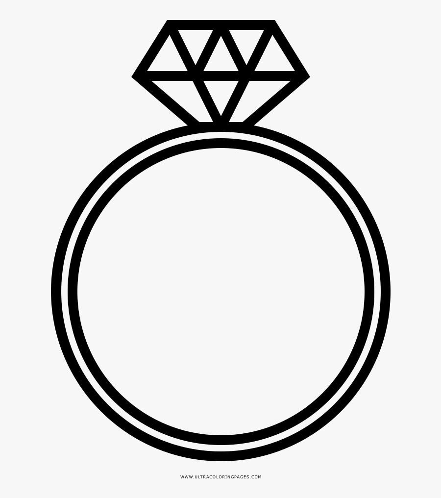Diamond Ring Clipart Vintage - Wedding Diamond Ring Drawing, Transparent Clipart