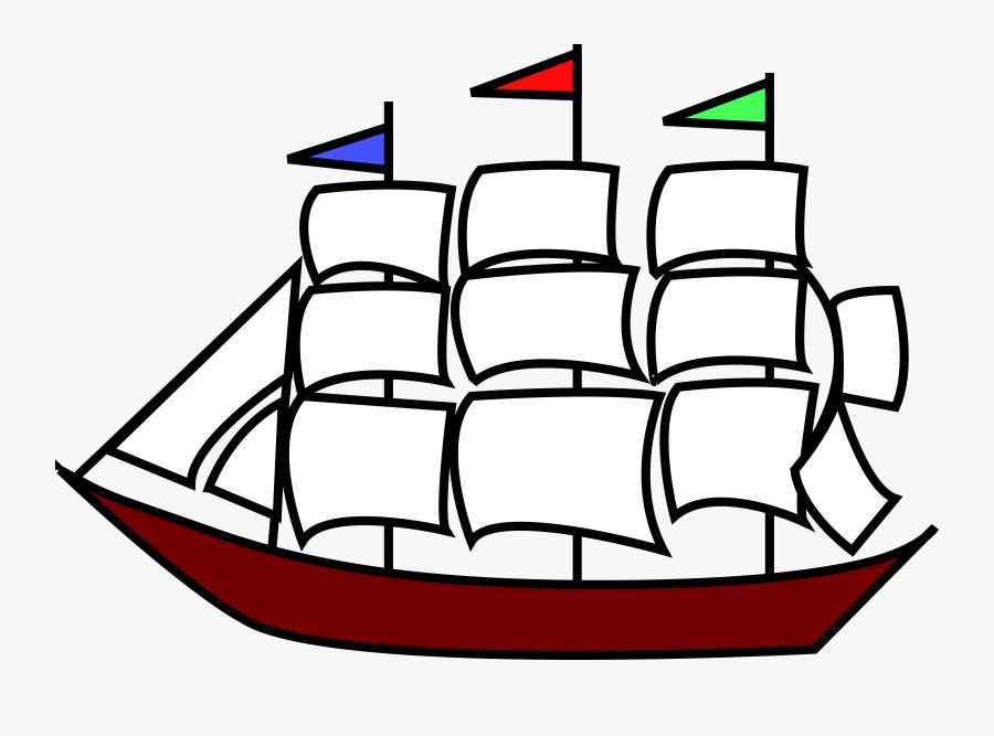 Ship Clipart Sailing Ship - Clip Art Sailing Ship, Transparent Clipart