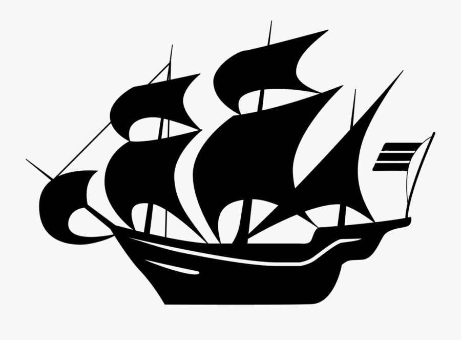 Sailing Flower Free On - Sailing Ship Clipart, Transparent Clipart