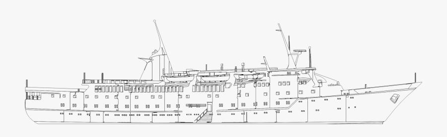 Heavy Cruiser,naval Ship,ship - Ship Technical Drawing, Transparent Clipart