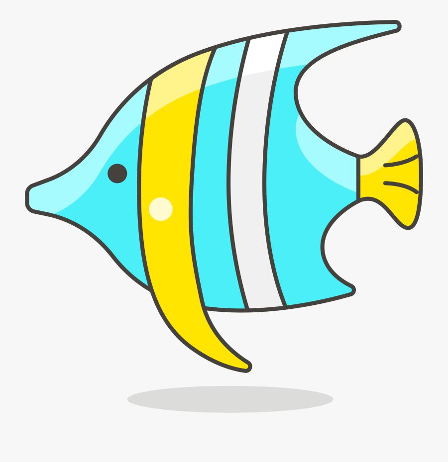 Clip Art Cartoon Tropical Fish Clip - Simple Fish Clipart, Transparent Clipart