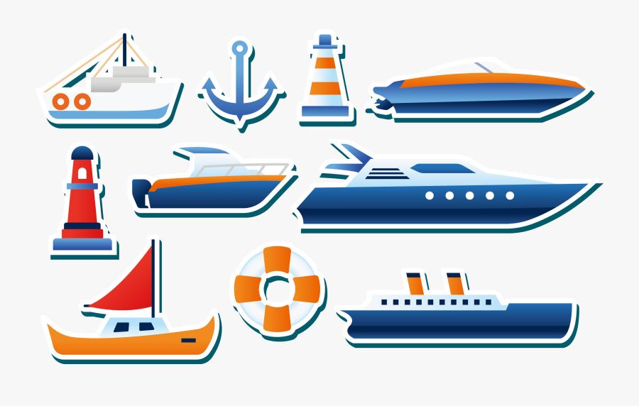 Yacht Euclidean Vector Sticker - Ship Sticker Png, Transparent Clipart