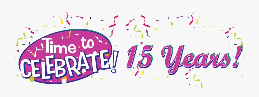 Transparent Celebration Clipart - Celebrate 15 Years, Transparent Clipart
