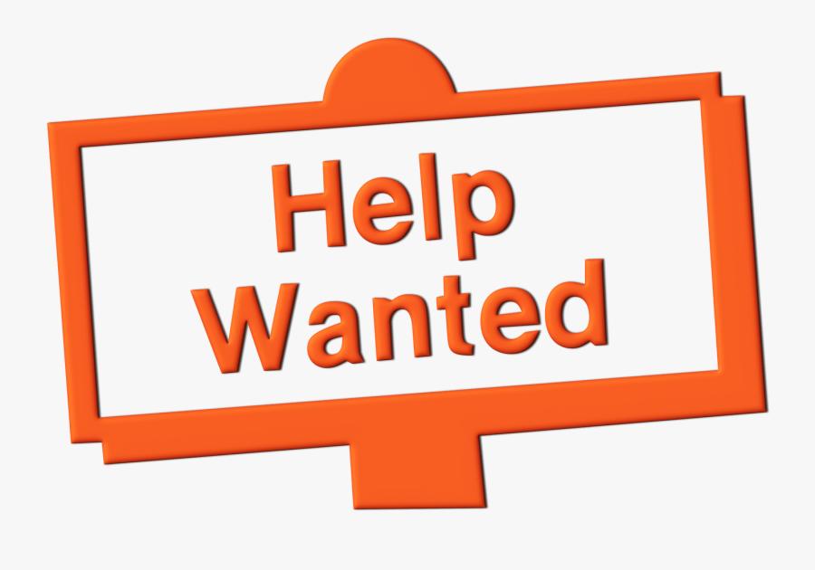 Help Wanted Clip Art Medium Size - Help Wanted Sign Clip Art, Transparent Clipart