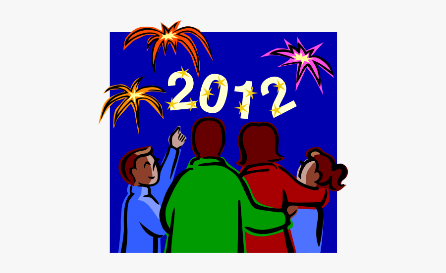 2012 At Night Celebration Svg Clip Arts - New Year Celebration Clipart, Transparent Clipart
