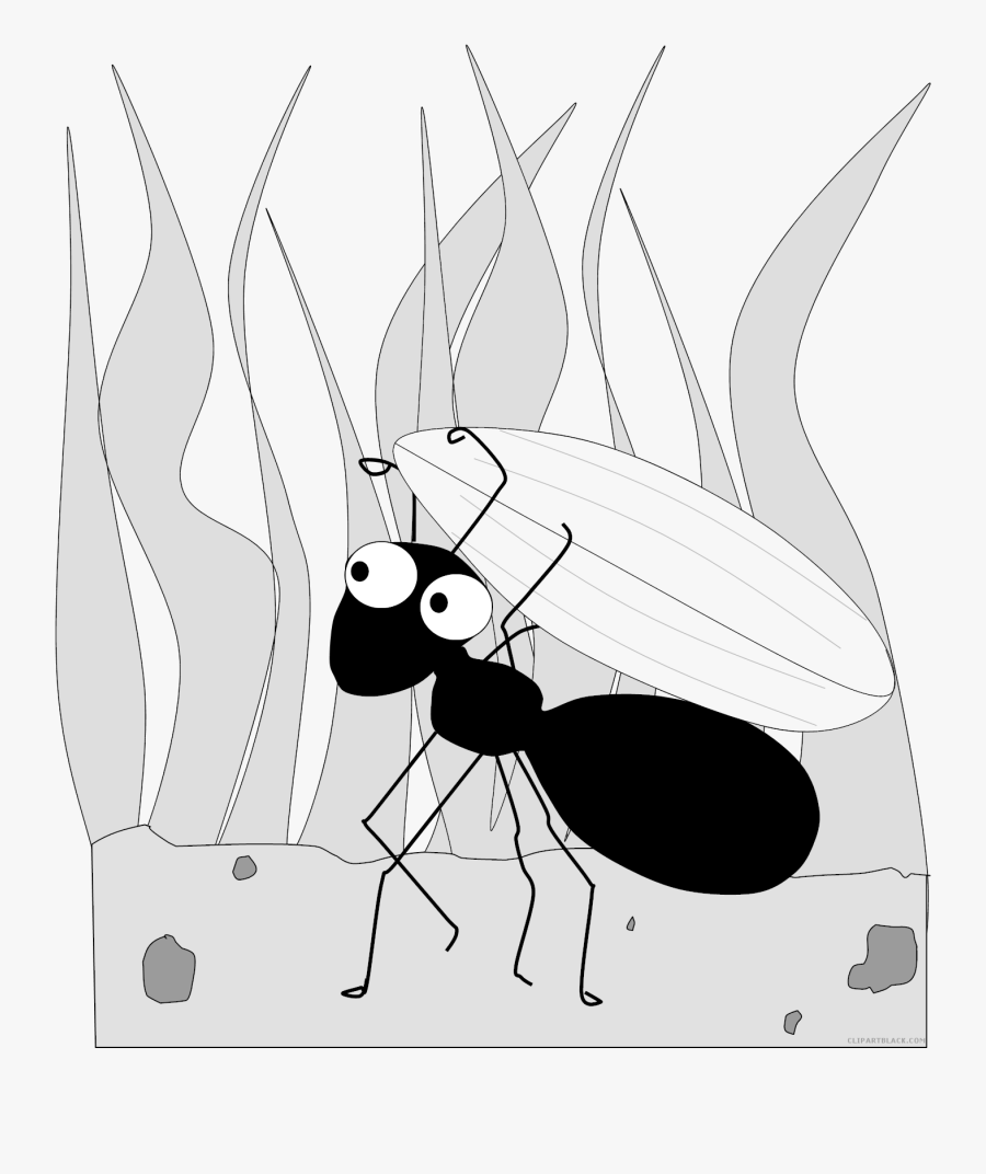 Ant Page Of Clipartblack Com Animal Free Ⓒ - Cartoon The Ant And The Grasshopper, Transparent Clipart