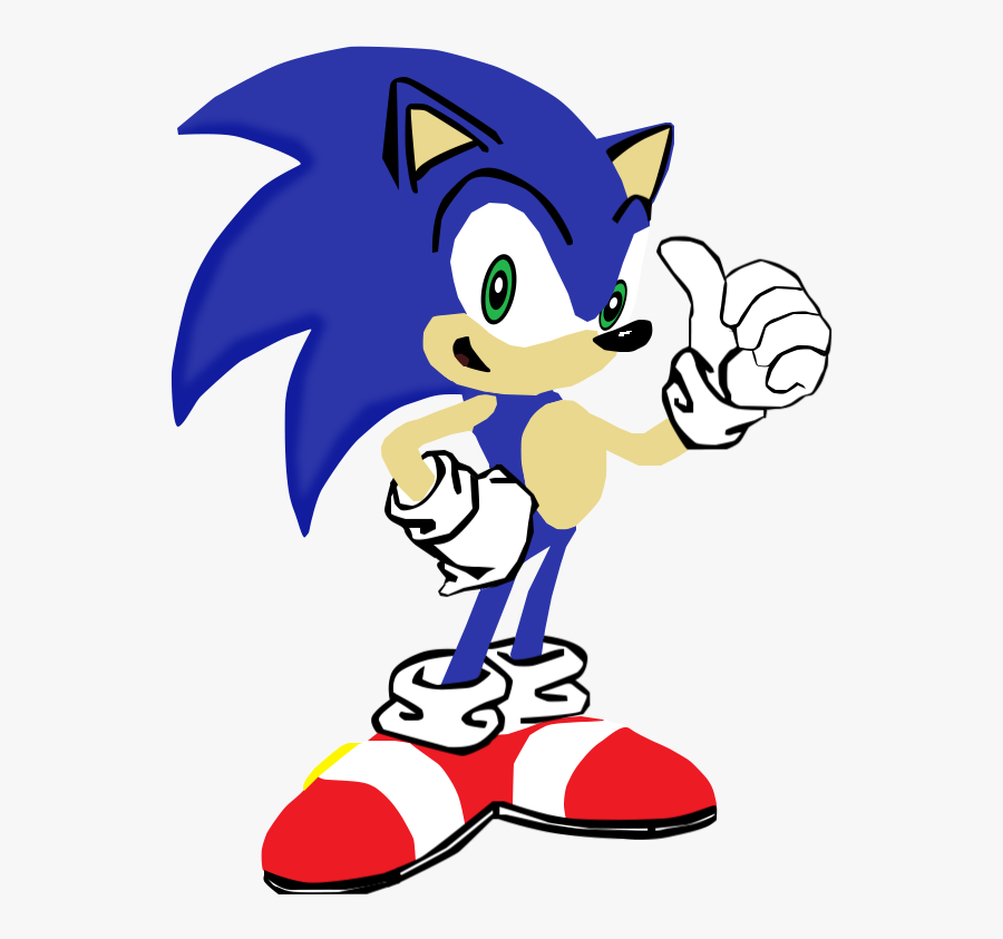 My First Vector Of Sonic The - Sonic X Sonic The Hedgehog Thumbs Up, Transparent Clipart