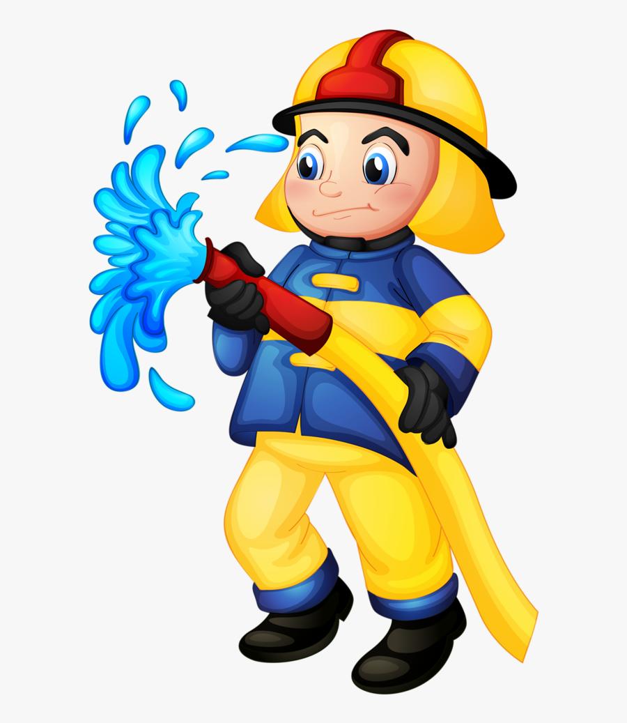 Transparent Fireman Clipart - Firemen Vector, Transparent Clipart
