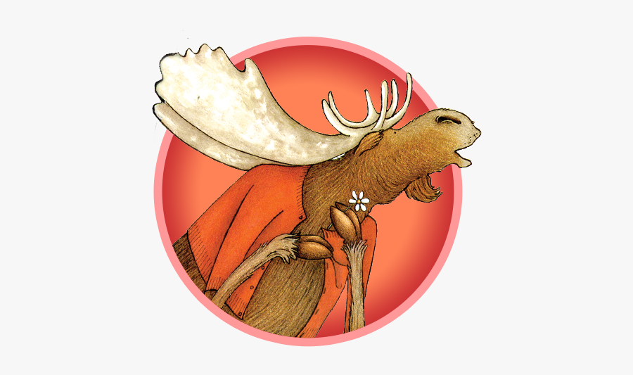 Moose - If You Give A Moose A Muffin Character, Transparent Clipart