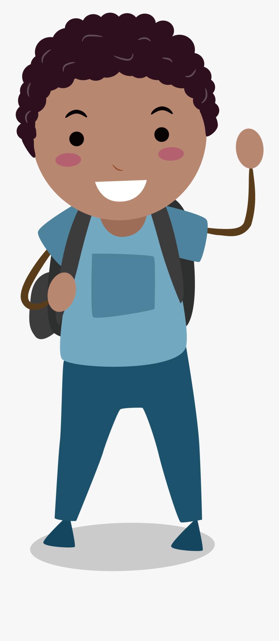 Male Clipart Middle School Boy - Children's Animated, Transparent Clipart