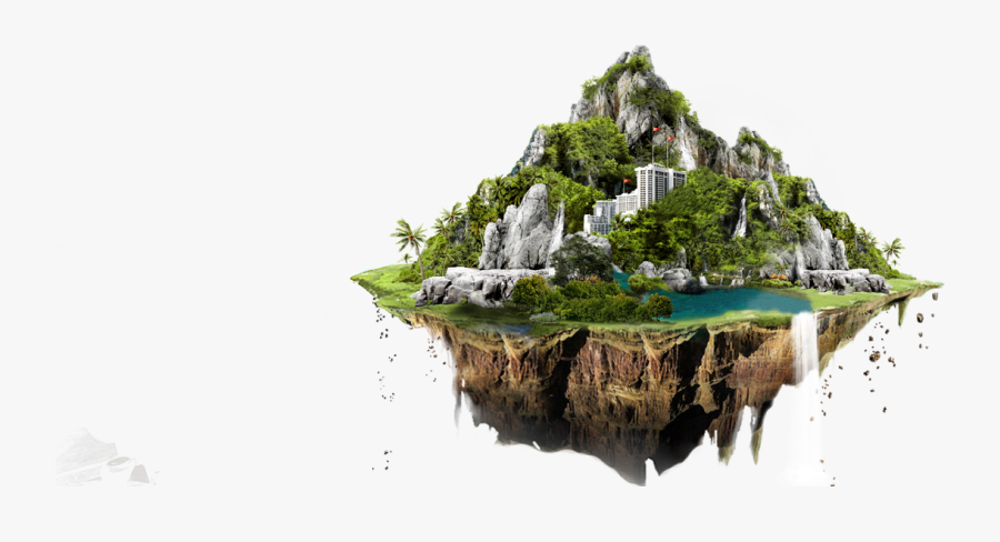 Transparent Isla Clipart - Floating Island Transparent, Transparent Clipart