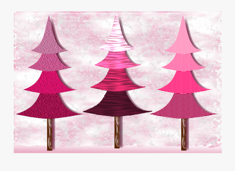 Pink,christmas Decoration,christmas Tree - Christmas Tree Png Clipart Pink, Transparent Clipart