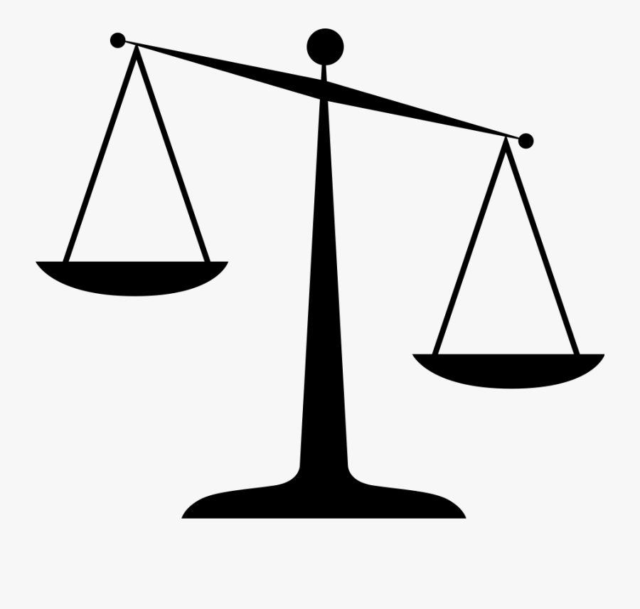 Law Clipart - Scales Of Justice Clip Art, Transparent Clipart