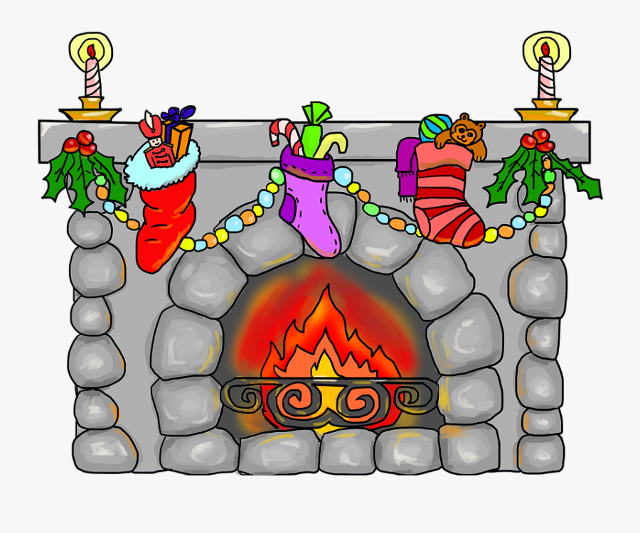 Christmas Fireplace By Lillycantabile - ปล่อง ไฟ คริสต์มาส การ์ตูน, Transparent Clipart