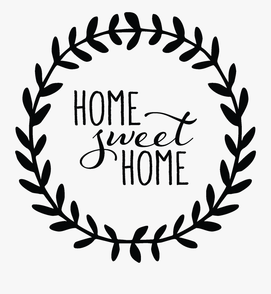 Download Home Sweet Home Leaves Wall Quotes™ Decal - Home Sweet Home Sign Clip Art, Transparent Clipart