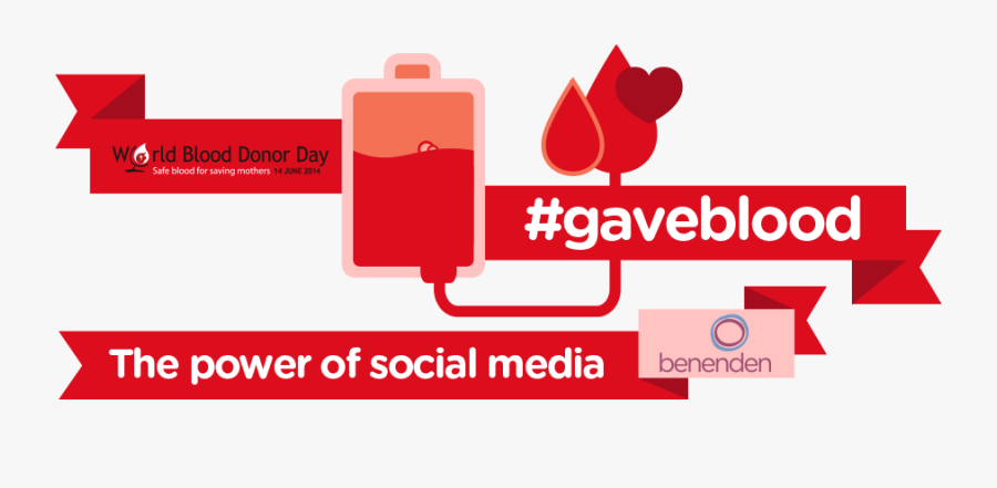Red Cross Blood Drive Clipart - Blood Donation Social Media, Transparent Clipart