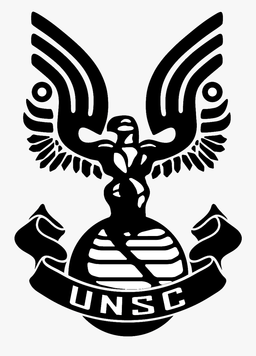 Halo Clipart Black And White - Halo Unsc Logo, Transparent Clipart