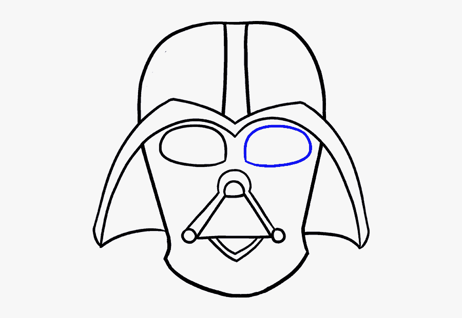 How To Draw Dart Vader - Darth Vader Picture To Draw, Transparent Clipart